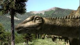 Sauropod dinosaur graphic animation