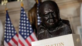 Bust of Churchill at US Capitol
