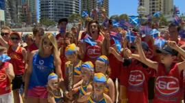 The Queen's Baton Relay arrives on Australia's Gold Coast