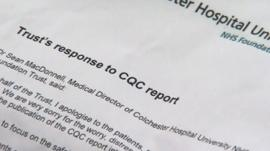 Colchester hospital response to CQC report