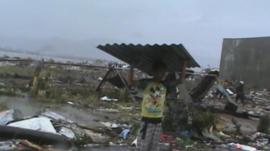 A devastated street