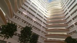 atrium of Co-Op building