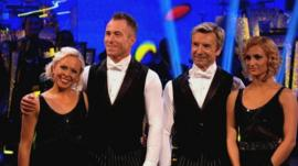 Torvill and Dean and their Strictly dance partners