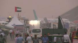 Sandstorm at Dubai air show