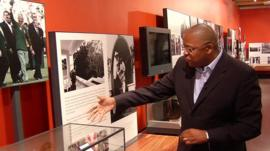 Milton Nkosi in the Nelson Mandela Centre of Memory