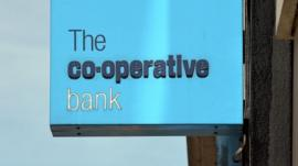 Co-operative bank branch sign