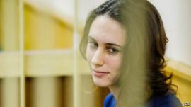 Alexandra Harris in cage in court