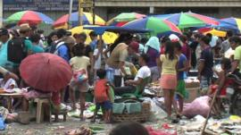 Market in Talcoban