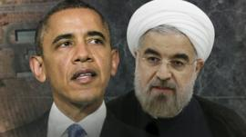 US President Barack Obama and Iranian President Rouhani