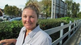 East Coast Trains worker Sharon Willett