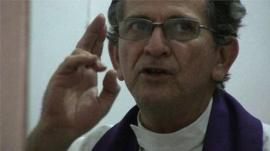 Catholic priest in Mexico performs and exorcism