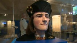 A model of the face of King Richard III