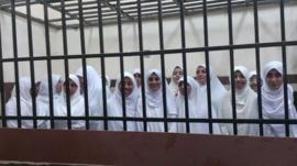 Jailed Egyptian teenagers