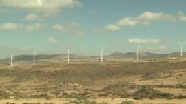 Wind turbines in Ethiopia