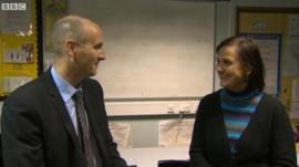 Teachers Chris Parry and Milka Nieminen