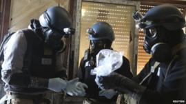 UN chemical weapons experts in Damascus, August 2013