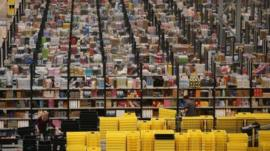 An Amazon warehouse