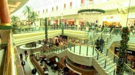 Inside Trafford shopping centre
