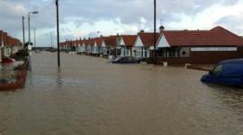 Flooding in Rhyl