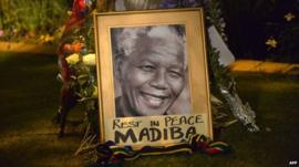 Mandela tribute in Johannesburg