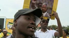 Mandela mourners in Soweto