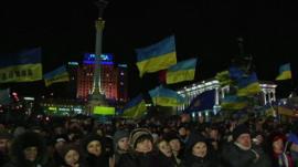 Protestors in Kiev