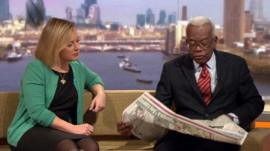 Gillian Tett and Sir Trevor McDonald