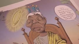 Drawing of Mandela by Shapiro