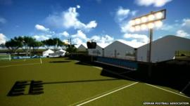 Animation of planned training pitch