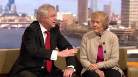 David Davis and Sue MacGregor