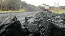 Coal by the roadside