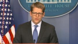 Jay Carney at the White House 16 December 2013