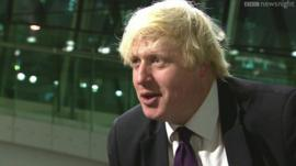 Boris Johnson being interviewed on BBC Newsnight