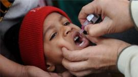 An Indian child gets a polio vaccine in January 2011