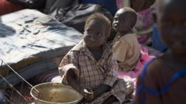 Refugee child in Juba , South Sudan