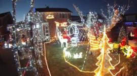 Christmas lights at Caister-on-Sea