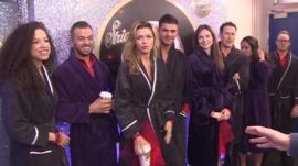 Colin Paterson with the Strictly Come Dancing finalists
