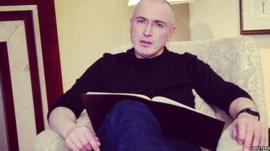 Michael Khodorkovsky in Berlin on 21 December 2013