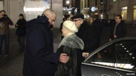 Mikhail Khodorkovsky with his mother