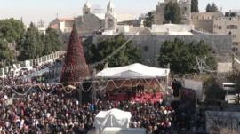 Manger Square in Bethlehem