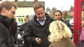 David Cameron and woman