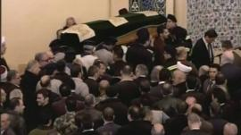 Mourners in Beirut for Mohamad Chatah