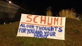 Banner outside hospital