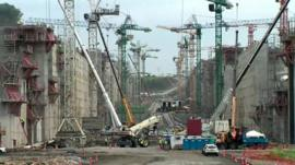 Construction work on the Panama Canal expansion