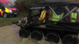 The amphibious vehicle