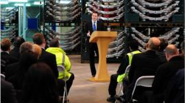 George Osborne making a speech