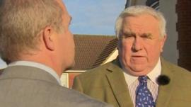 Fergus Wilson (right) talking to BBC's Andy Moore