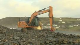 Newgale beach road repairs