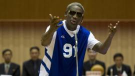 Dennis Rodman sings