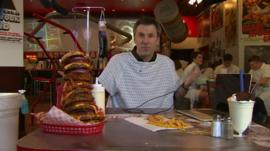 BBC Click's Spencer Kelly tests the latest health tech in an American diner